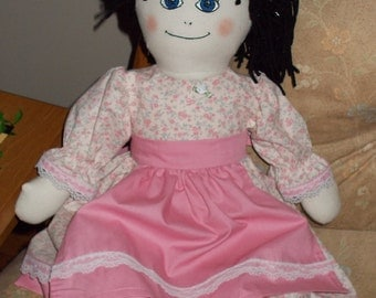 Rag Doll Britney in Pink Dress and Apron