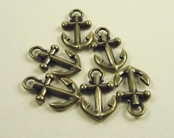 Anchor Charms 6 Tierracast Brass Oxide