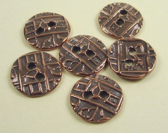 20 Antique Copper Tierracast Coin Buttons