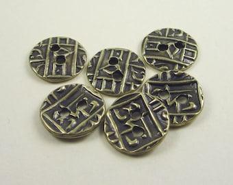 20 Brass Oxide Tierracast Coin Buttons