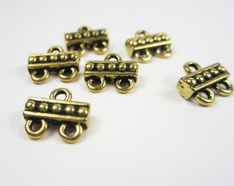 20 Gold Tierracast 2 to 1 Connector Bars