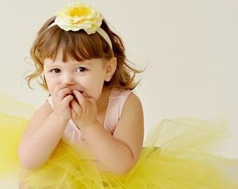 flower girl dress, yellow tutu, flower girl tutu, sewn tutus, tutus chic, birthday tutu