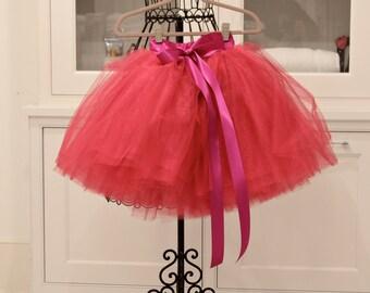 flower girl tutu, flower girl dress, tulle, tutus, fuchsia flower girl dress