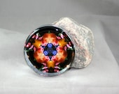 Tulip Paperweight Mandala Boho Chic New Age Unique Gift Flower Lover Nature Sacred Geometry Hippie Kaleidoscope Spring Fling