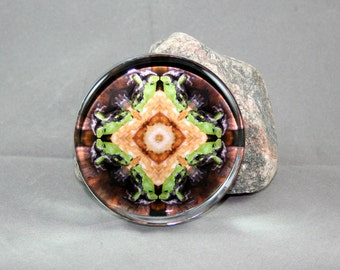 Glass Paperweight Frog Boho Chic Mandala New Age Sacred Geometry Hippie Kaleidoscope Nature Unique Boss Gift Teacher Gift Harmonious Hopper