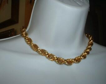 Original TRIFARI Golden Multi Chain Link Necklace Classic