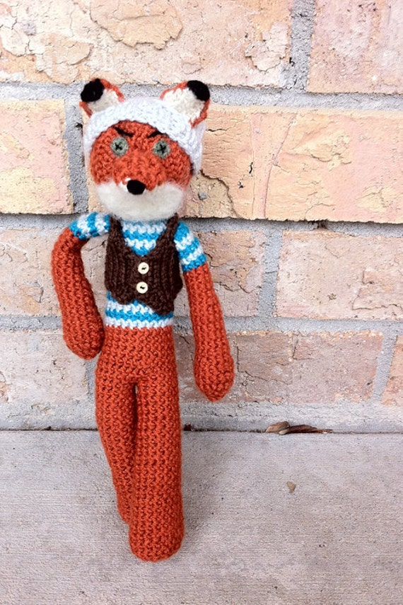 ... Crochet Fox, Mini Fantastic Hipster Fox Made to Order on Etsy
