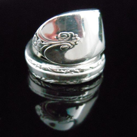 Recycled Spoon Ring - Exquisite - Antique Silverware Jewelry