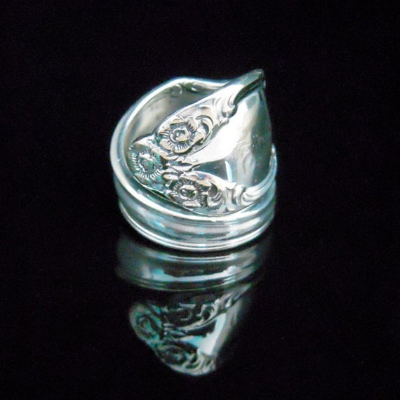 Silver Spoon Ring - Lady Densmore aka Woodland Rose aka Basque Rose