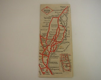 Vintage Savannah Georgia Map 1933 GA Brochure UTU Travel Guide Brochure United Travelers Union