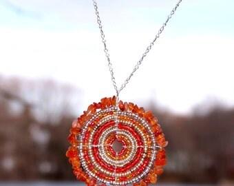 Carnelian Maasai Beaded Necklace (Large)