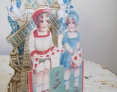 Antique valentine pop up dutch windmill theme unused Free shipping to USA