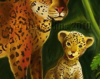 ACEO Print Detail 1 Jungle