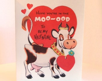 Vintage Valentine Reproduction Cow