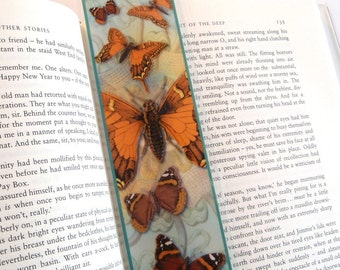 Orange and Blue Butterfly Bookmark