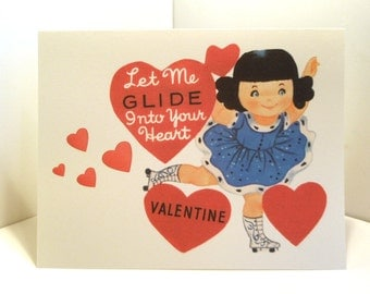Vintage Valentine Reproduction Ice Skater