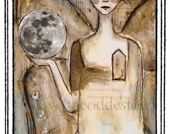 She Holds the Moon Bookplates (Personalized or Blank)