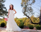 Fit and Flare Wedding Dress - Sweet Lady Genevieve