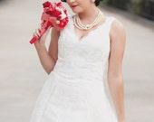 Lace Wedding Dress - Tea Length - Runaround Sue