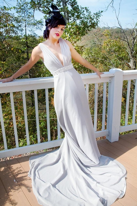 untraditional wedding dresses items similar to silver gray 1920s wedding dress 8200