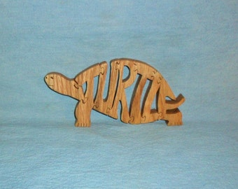 Turtle Scroll Saw Wooden Puzzle