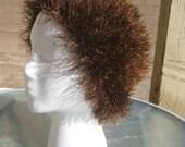 Crochet Faux Fur Hat - Beautiful, Warm, Chemo Cap