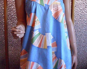 Small Halter Dress With Graphic Pattern