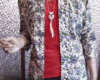 Floral Western Button Down Shirt (M)
