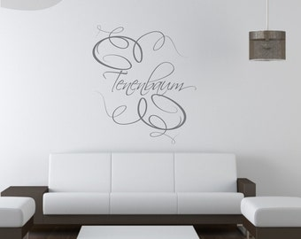 Elegance Monogram  - Custom Vinyl Wall Decal w/ Your Name