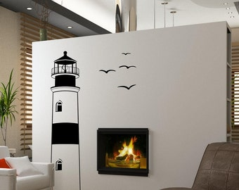 Find Your Way Home Lighthouse - Vinyl Wall Decal