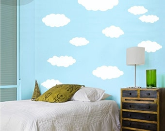 Happy Little Clouds - Vinyl Wall Decals