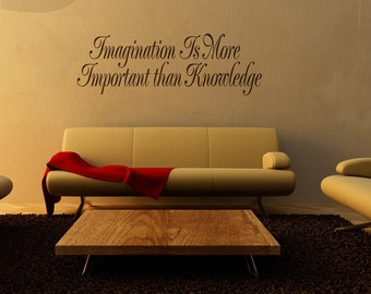 Imagination Quote - Vinyl Wall Decal