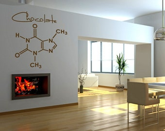 Molecular Sweetness- 1 Large Vinyl Graphic Wall Decal (Honey, Cream, Peppermint, Chocolate, Vanilla, OR Cinnamon)