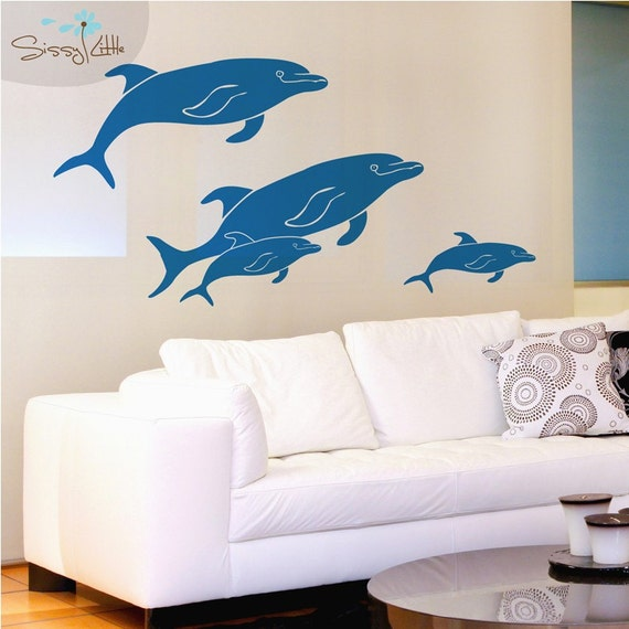 Friendly Pod of Dolphins - Vinyl Wall Decals