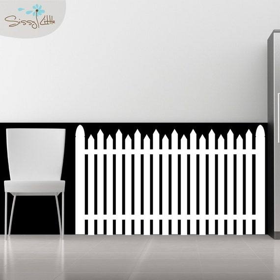 American Dream White Picket Fence Vinyl Wall Decal