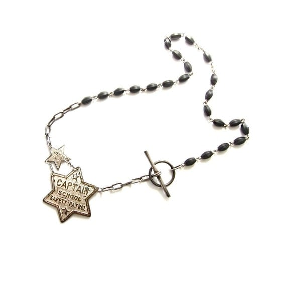 RESERVED for ALICIA - vintage stars necklace 'Church & State'