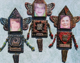 Personalized OOAK Mixed Media Art Doll - Guardian Angel, Wise Woman, Fairy Godmother