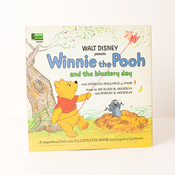 Vintage Winnie the Pooh and the Blustery Day LP Album and Book, Very Nice
