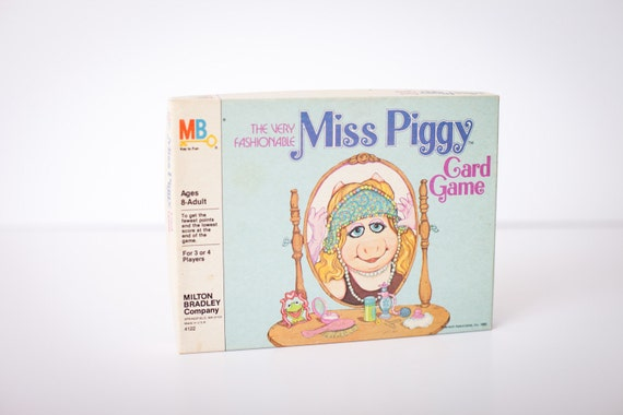 The Very Fashionable Miss Piggy Card Game, Muppets, Complete, Vintage 80s