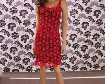 "SALE Crochet prom/evening dress ""Sharon"""