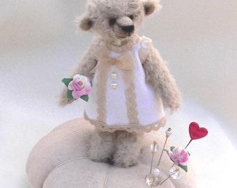 Teddy Bear Pin Cushion PDF Sewing Pattern - Muffy