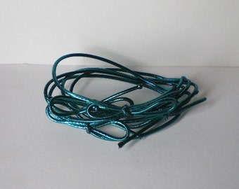 """50 Green Stretch Loops - 8"""" - Packaging - Gifts - Bow"""