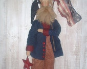 "Primitive ""Star Spangled Sam"" Americana Pattern, Primitive Patterns"
