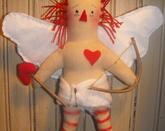 """Primitive """"Raggedy Cupid"""" Doll instant download e-Pattern"""