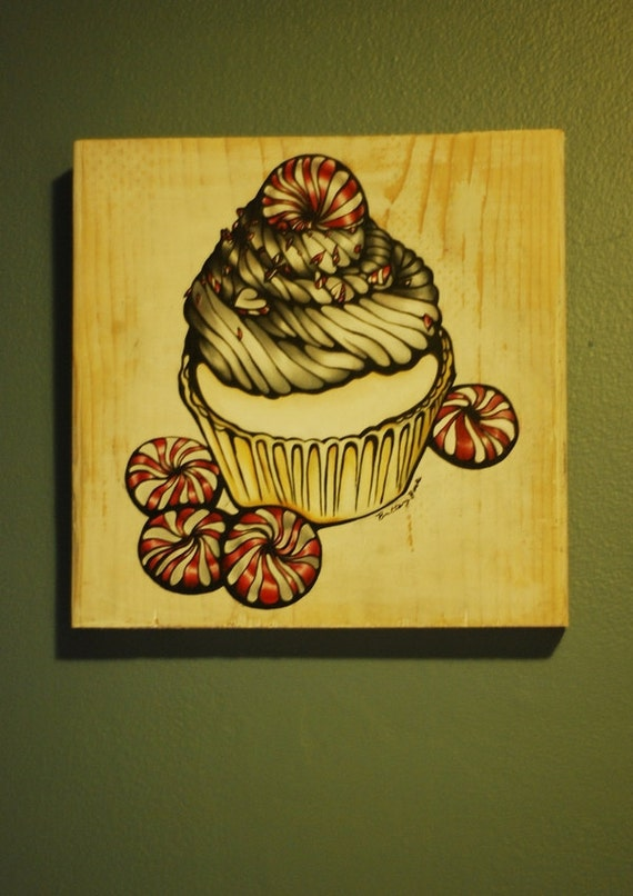 Cake And Art Santa Monica Blvd : Tattoo Home decor Oil painting of Peppermint by Pajamasquid