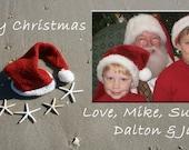 Custom Beach Christmas Card Photo YOU PRINT