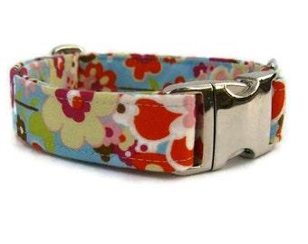 Summer Dog Collar The Bailey Collar with Nickel Plate Hardware