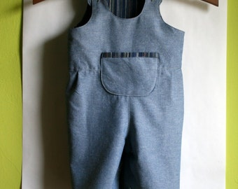Chambray Toddler Summer Romper