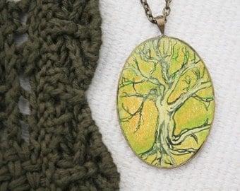 Roots Tree- Hand Drawn Art Pendant