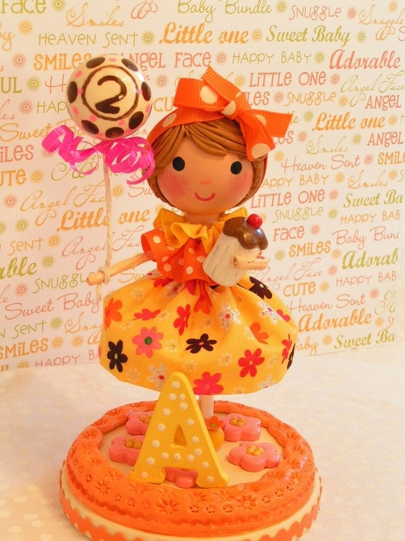 Ready to Ship   - Fall Birthday Colors Cake Topper